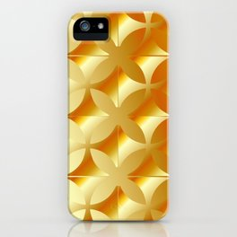 Texture with gold flowers iPhone Case