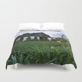 Dilapidated Farm and Mustard Seed Duvet Cover