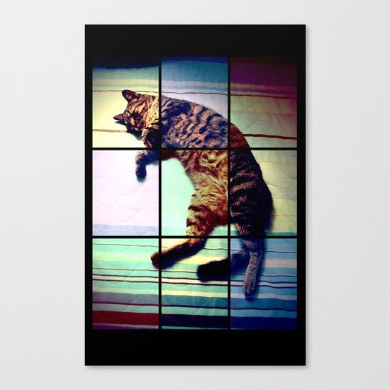 Cat (mosaico) Canvas Print