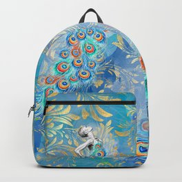 Feather peacock #17 Backpack