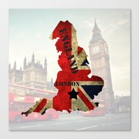 england Canvas Prints featuring ENGLAND by mark ashkenazi