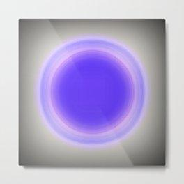 Lavender & Gray Focus Metal Print