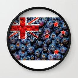 Healthy New Zealand Flag Wall Clock