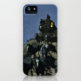 The Old Stage - Coach of the Plains - Digital Remastered Edition iPhone Case