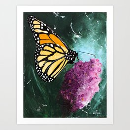 Butterfly - Soft Awakening - by LiliFlore Art Print