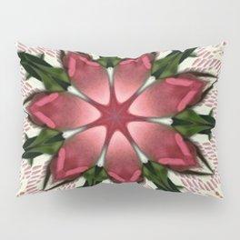 Vintage Lace Pink Rose Kaleidoscope Pillow Sham