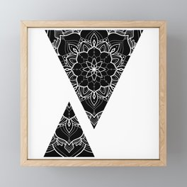 Abstract design of triangles with mandalas Framed Mini Art Print