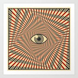Red eye of providence Art Print