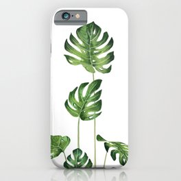 Monstera Watercolor  iPhone Case