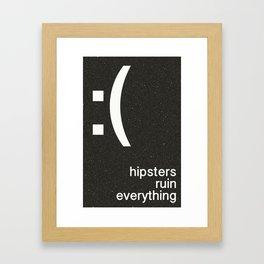 :( 2hip Framed Art Print