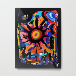 Black Sun is shining Abstract Art Street Graffiti Metal Print