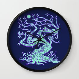 All the Creatures of the Forest Wall Clock
