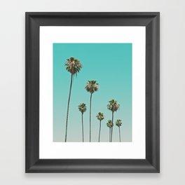 palm trees. las palmeras Framed Art Print