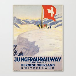 Vintage poster - Switzerland Canvas Print