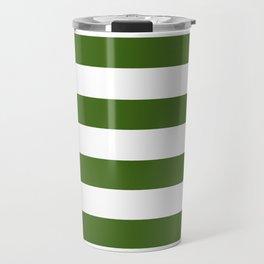 Simply Stripes in Jungle Green Travel Mug