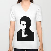 dean winchester V-neck T-shirts featuring Dean Winchester by redheadedwalker