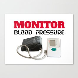 Blood pressure monitoring Canvas Print