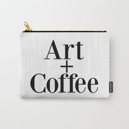 Art + Coffee graphic design Carry-All Pouch