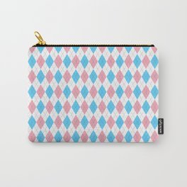 Transgender Argyle Carry-All Pouch