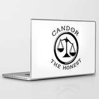 divergent Laptop & iPad Skins featuring Divergent - Candor The Honest by Lunil