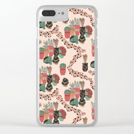 pottery and plants Clear iPhone Case