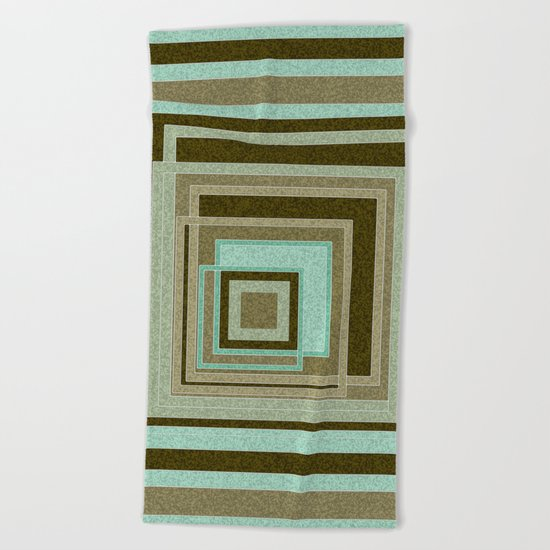 Abstraction . Geometric shapes . 1 Beach Towel