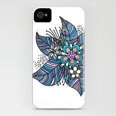 Line Floral iPhone (4, 4s) Slim Case