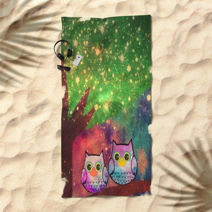 owl-143 Beach Towel