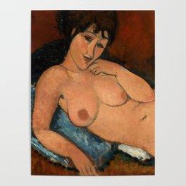 "Amedeo Modigliani ""Nude on a Blue Cushion"" Poster"