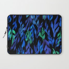 180726 Abstract Leaves Botanical Dark Mode 12  |Botanical Illustrations Laptop Sleeve