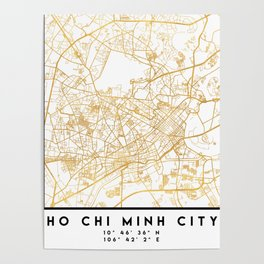 HO CHI MINH CITY STREET MAP ART Poster
