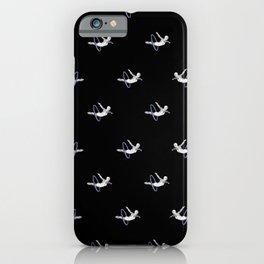 Hoop Diving - Pattern on Black iPhone Case