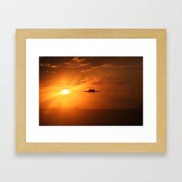 houston sun Framed Art Print
