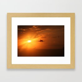 houston sun Framed Art Print