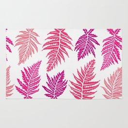 Inked Ferns – Blush Palette Rug