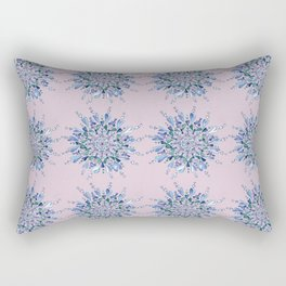 Blue heart mandala Rectangular Pillow