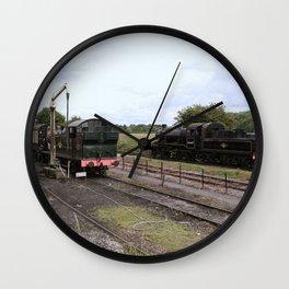 Manipulated Steam Train Image Wall Clock