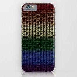 Binary Rainbow iPhone Case