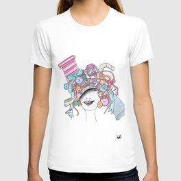 365 cabelos - sewing T-shirt