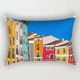 Casas de colores Cuenca. Rectangular Pillow