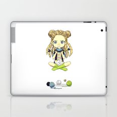 Knitting Meditation Laptop & iPad Skin