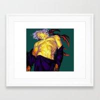 antler Framed Art Prints featuring antler by Le Potobashin