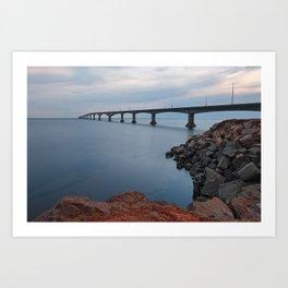 Confederation Twilight Bridge Art Print