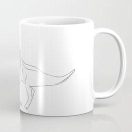 Mimosasaurus Sporting Blue Scarf Coffee Mug