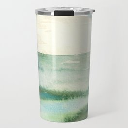 Emerald Sea Watercolor Print Travel Mug