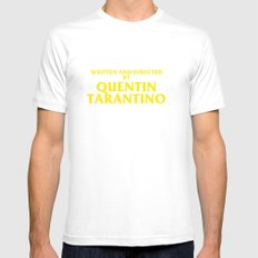 Written And Directed By Quentin Tarantino Mens Fitted Tee MEDIUM White