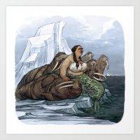 The Arctic Walrus Whisperer Art Print