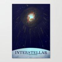 interstellar Canvas Prints featuring Interstellar by Anton Lundin