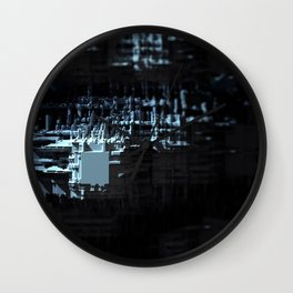 Spaceship structure urban intricate pattern abstract background Wall Clock