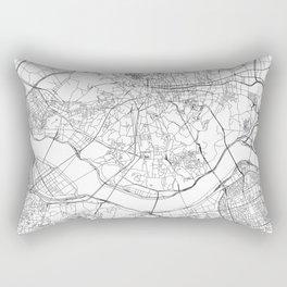 Seoul White Map Rectangular Pillow
